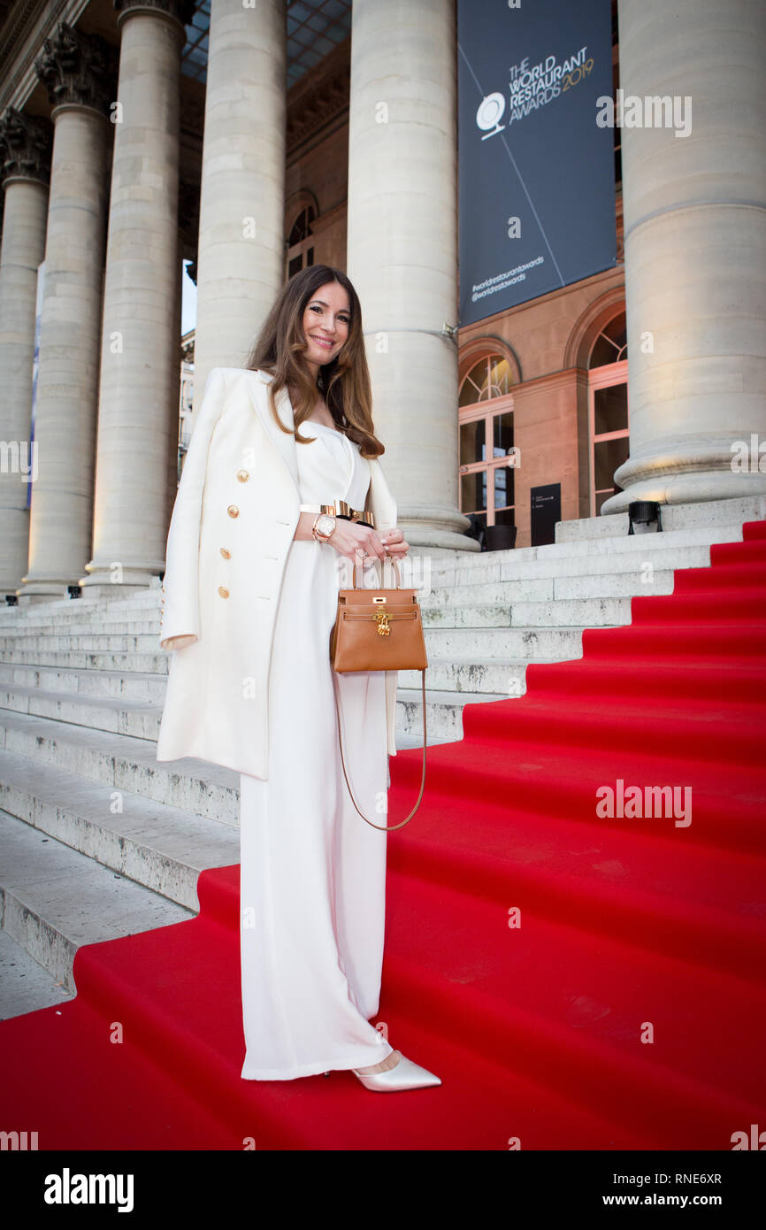 Paris, France. 18th Feb, 2019. Lena Terlutter on the red carpet as a guest of Gaggenau at The World Restaurant Awards 2019. Credit: Robert Christopher/Alamy Live News Stock Photo