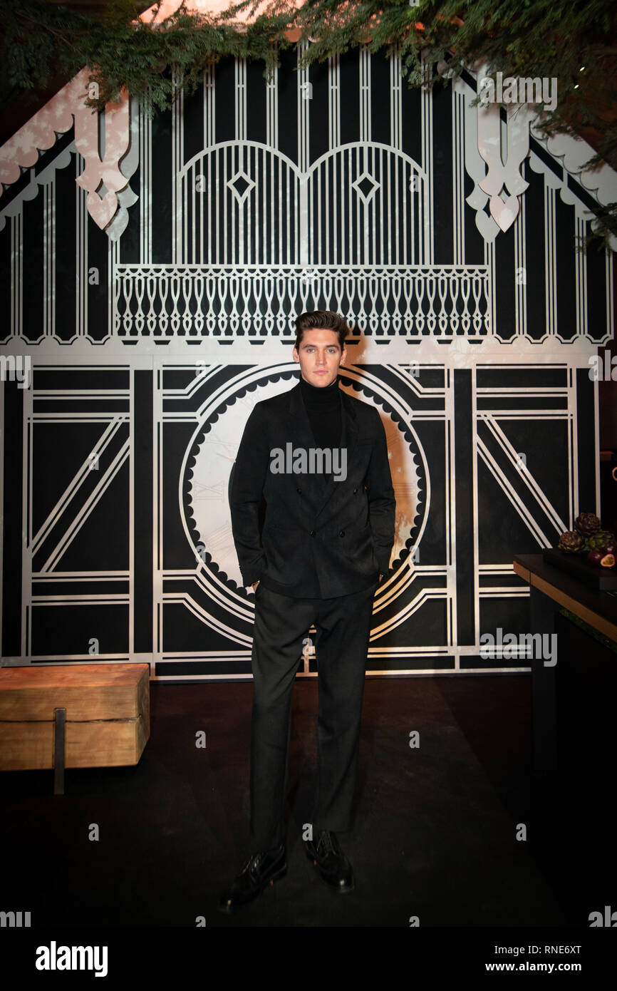 Paris, France. 18th Feb, 2019. Isaac Carew attending the Gaggenau party after The World Restaurant Awards 2019. Credit: Robert Christopher/Alamy Live News Stock Photo
