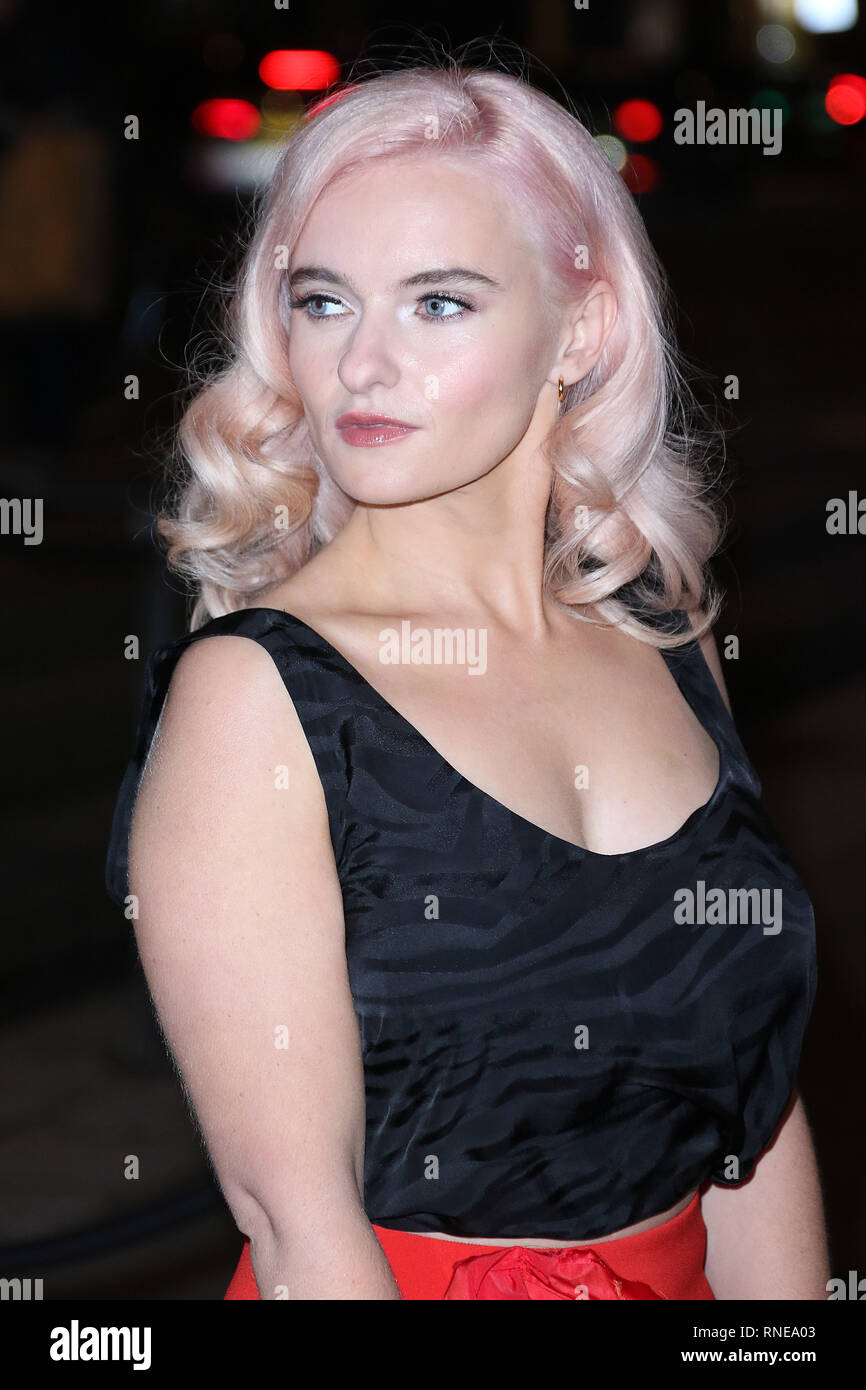 London, UK. 18th Feb 2019. Grace Chatto, Fabulous Fund Fair, Roundhouse, London, UK. 18th Feb, 2019. Photo by Richard Goldschmidt Credit: Rich Gold/Alamy Live News - Stock Image