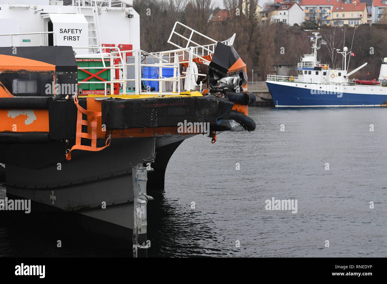 Sassnitz, Germany  19th Feb, 2019  The offshore utility