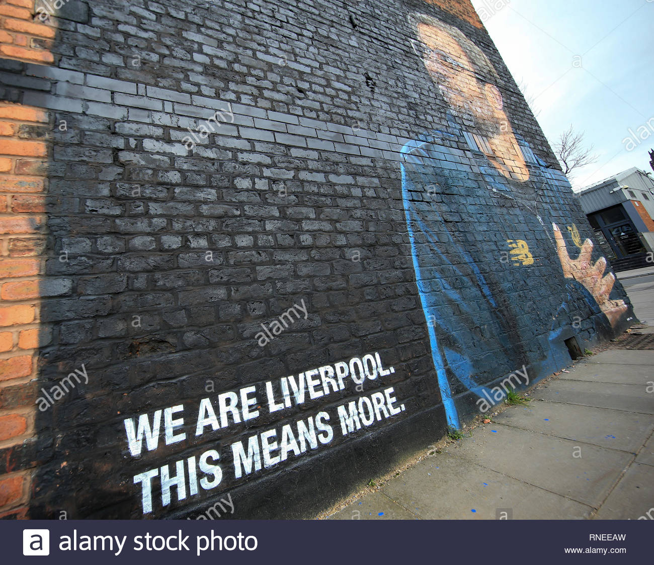 Uefa Champions League Round Of: A View Of Anfield Stock Photos & A View Of Anfield Stock
