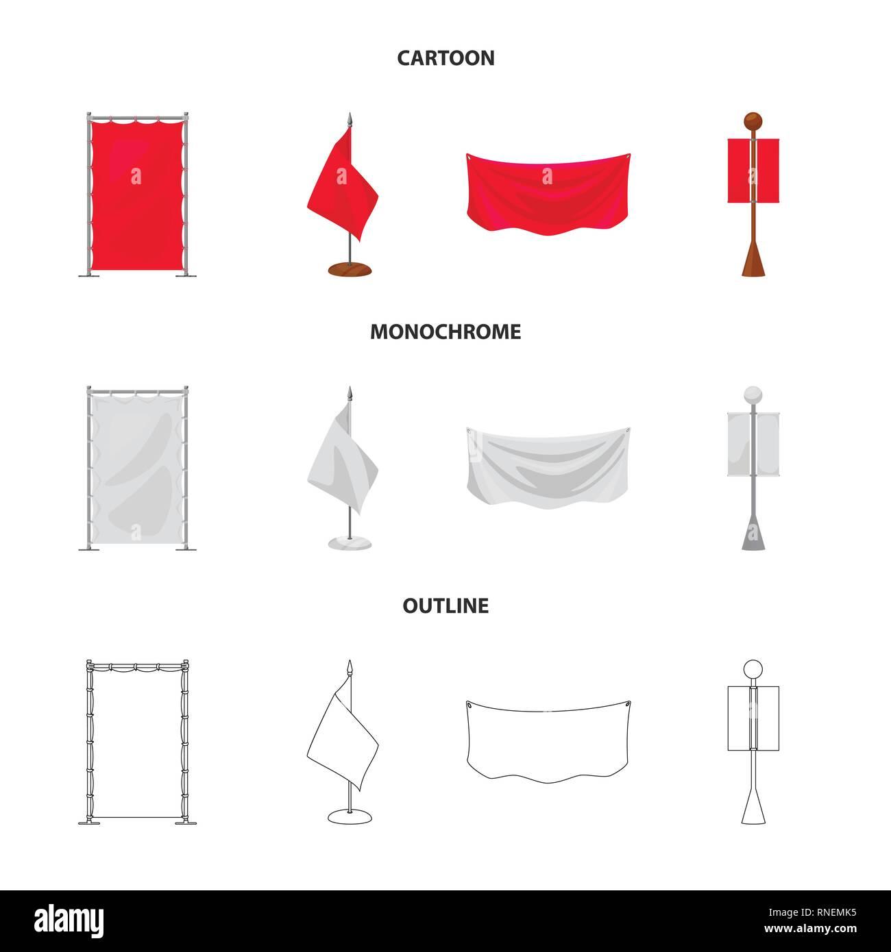 Vector design of texture and presentation icon. Set of texture and media  vector icon for stock. - Stock Vector