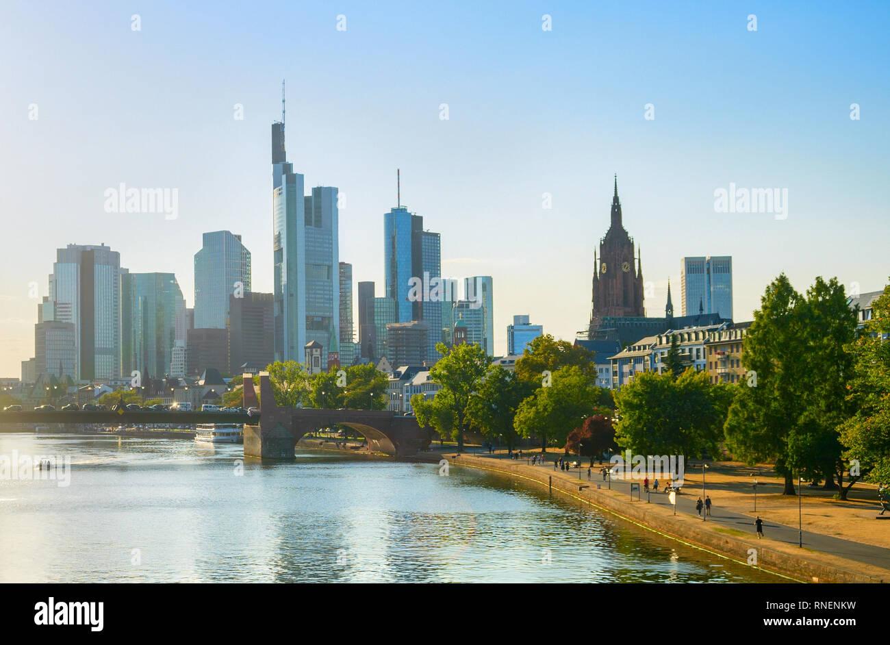 Frankfurt Downtown city cityscape, Frankfurt, Germany Stock Photo