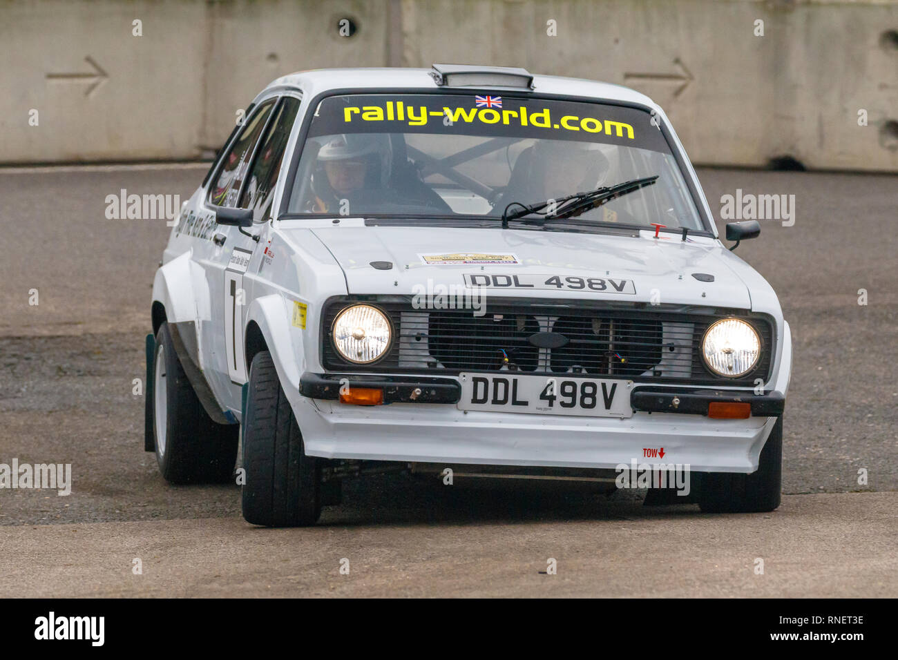 Ford Escort RS, DDL 948V, with driver Robin Adams and co-driver Ray