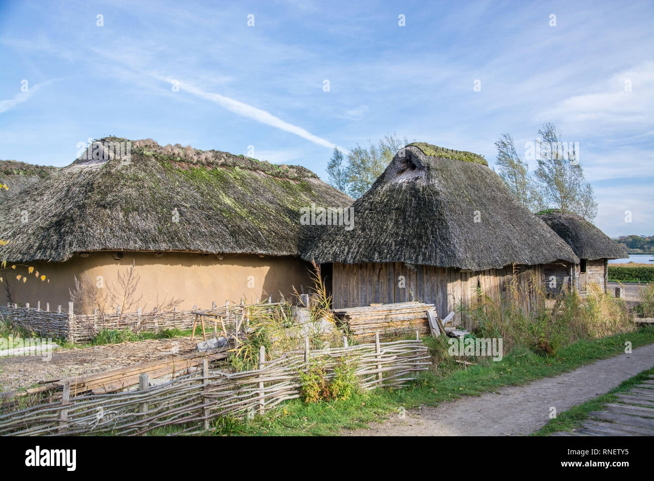 Hedeby was an important Danish Viking Age trading settlement near the southern end of the Jutland Peninsula, now in the Schleswig-Flensburg district o - Stock Image