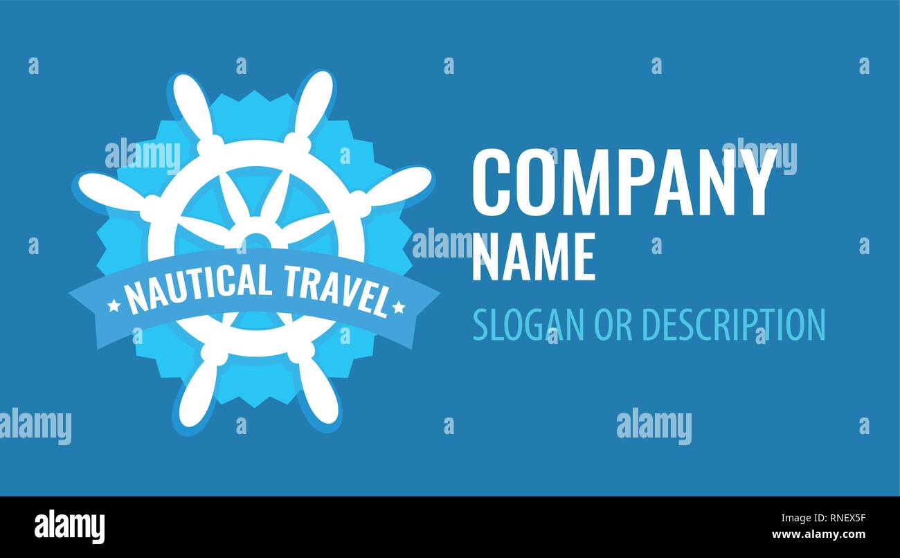 45489aaa5 Vector badge with ship steering wheel isolated on white background ...