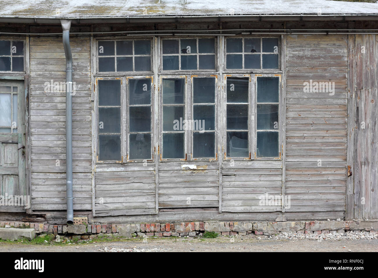 An old wooden barrack - Stock Image
