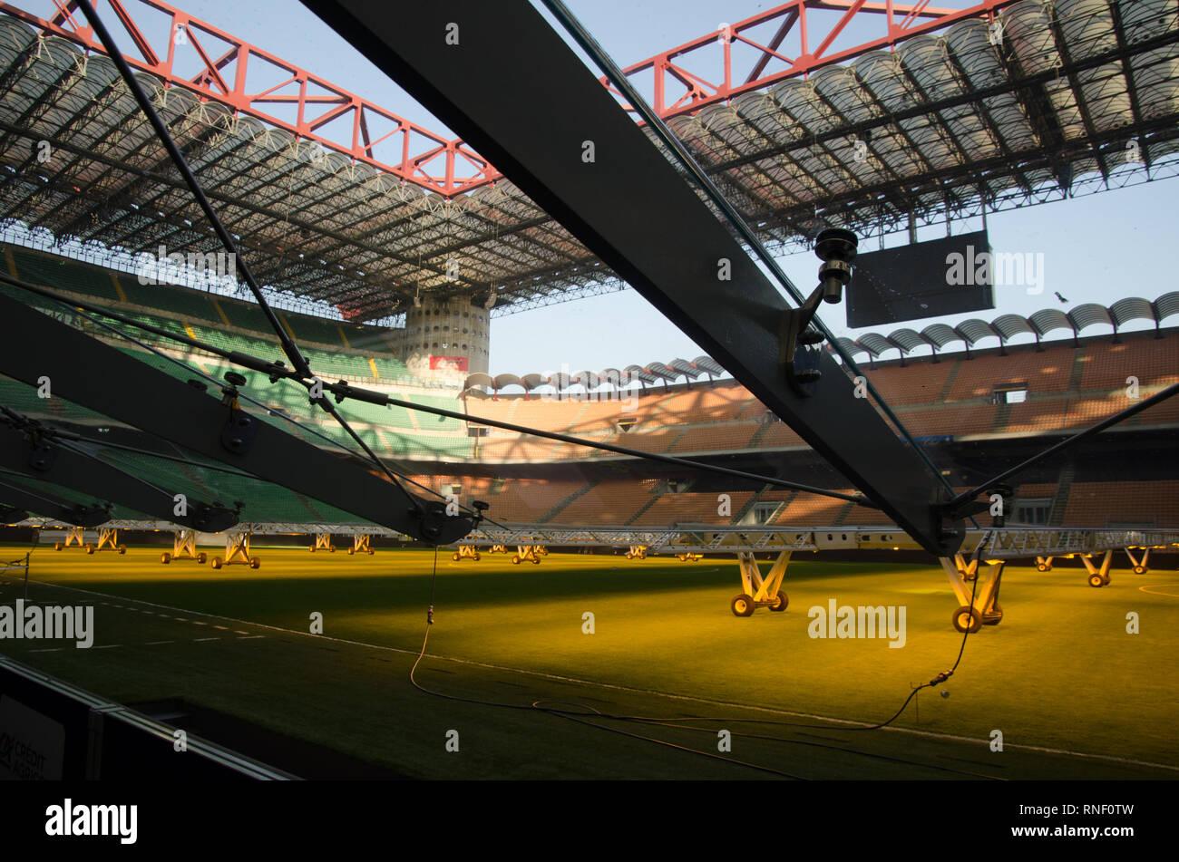 Meazza Stadium, also known as San Siro, in Milano. February 18th, 2019 Stock Photo