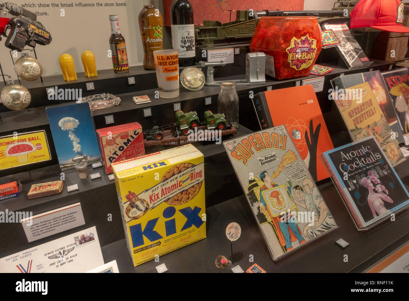 Atomic Bomb in Popular Culture display, Nevada, United States. - Stock Image