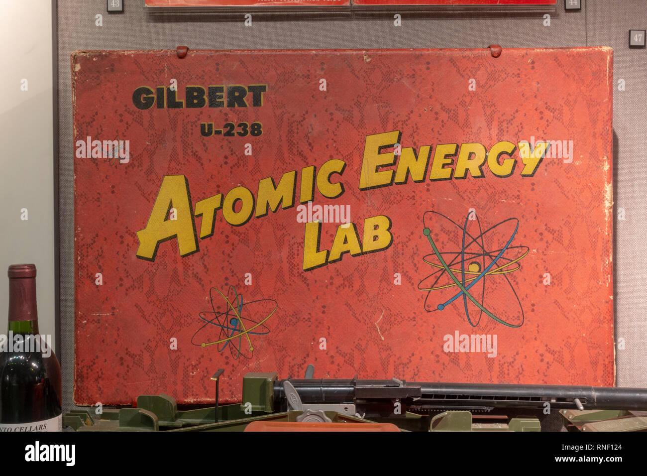 A Gilbert U-238 Atomic Energy Lab toy set, Nevada, United States. - Stock Image