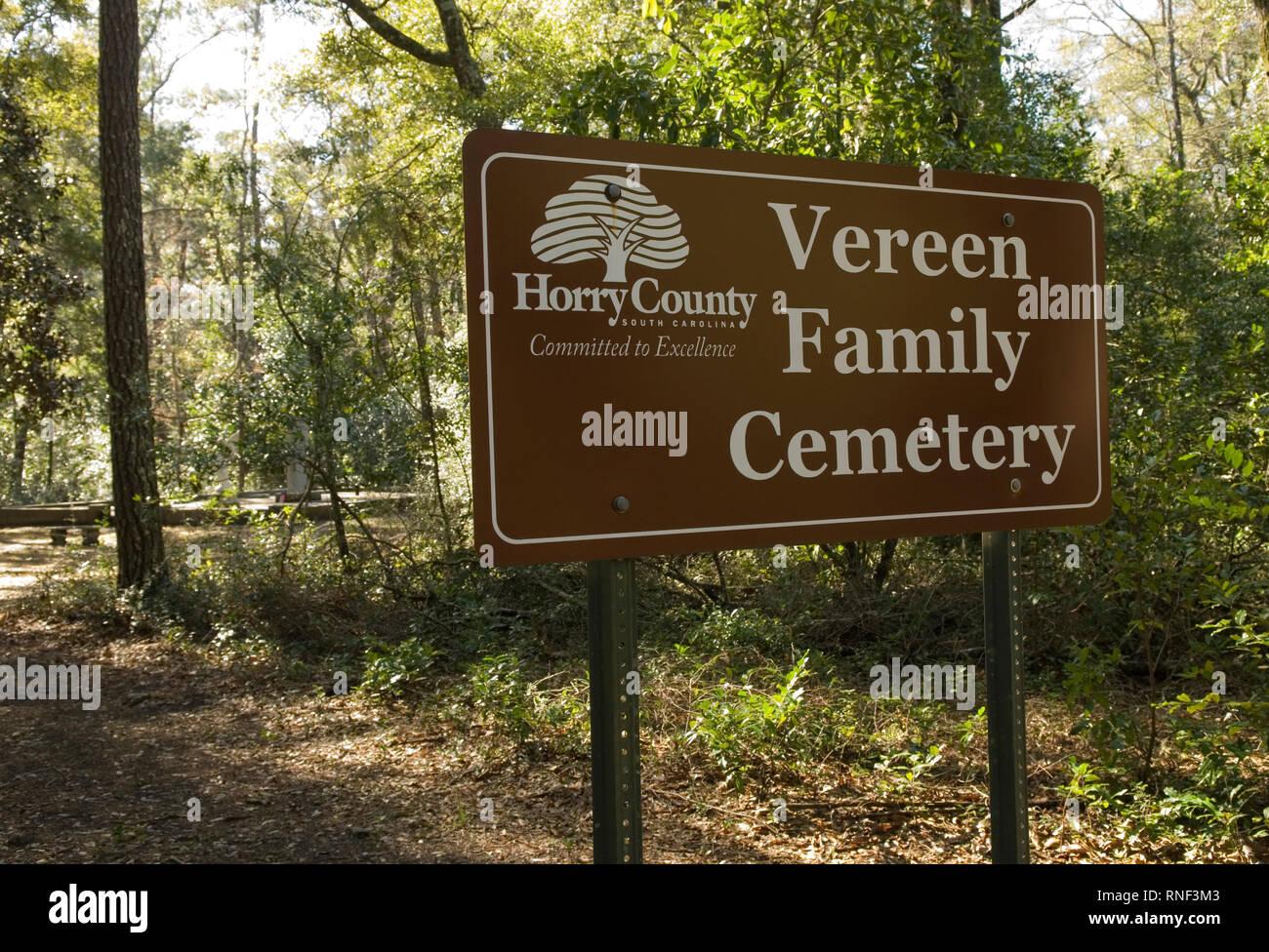 Vereen Memorial Historical Gardens Little River, South Carolina USA. - Stock Image
