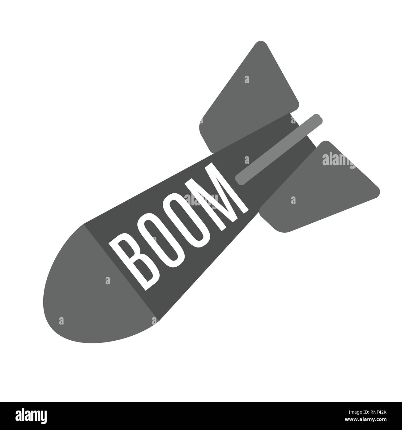Aviation Bomb icon flat style for design. Vector illustration - Stock Image