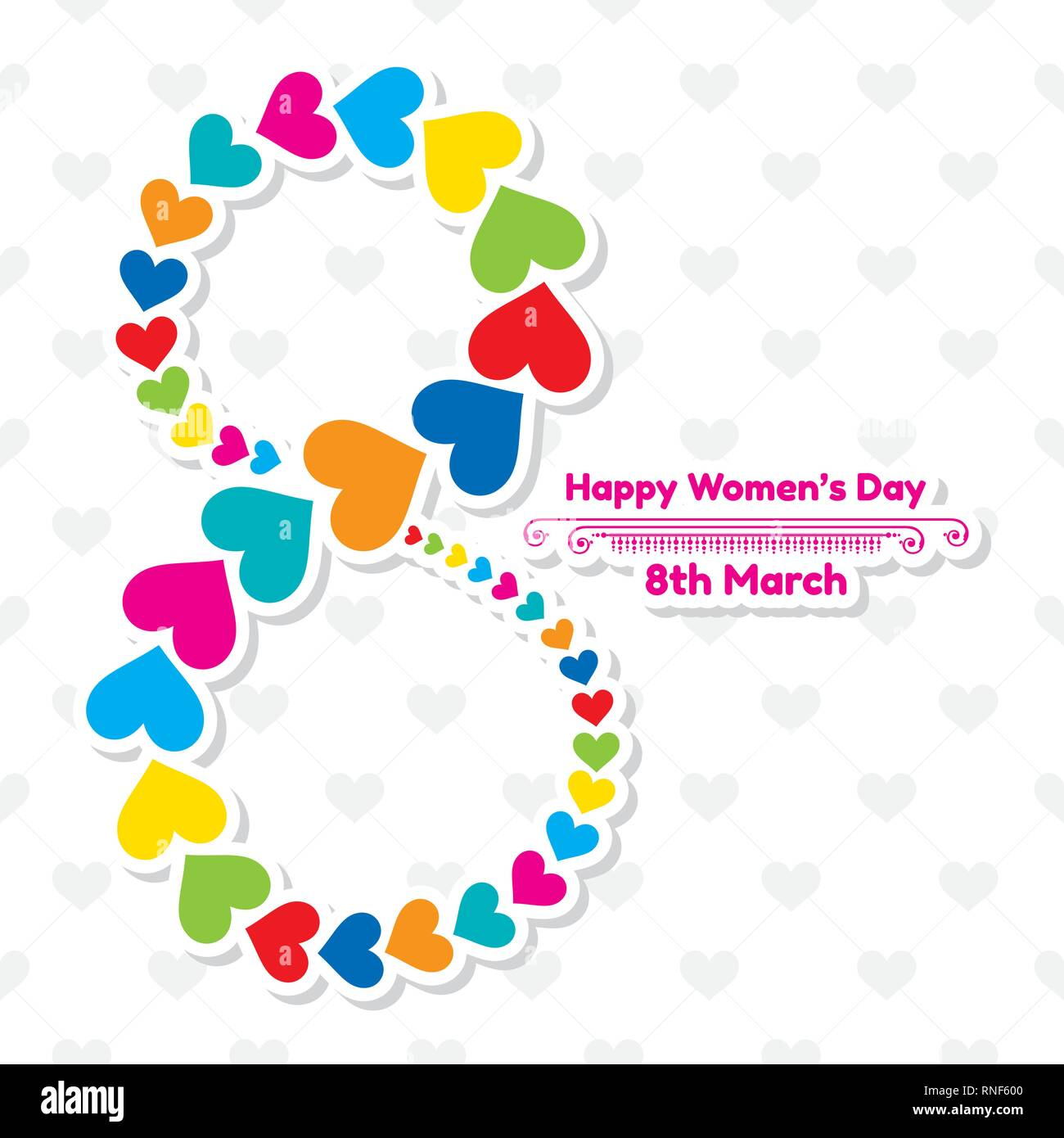 Happy women's day greeting card. Postcard on March 8 stock vector - Stock Vector
