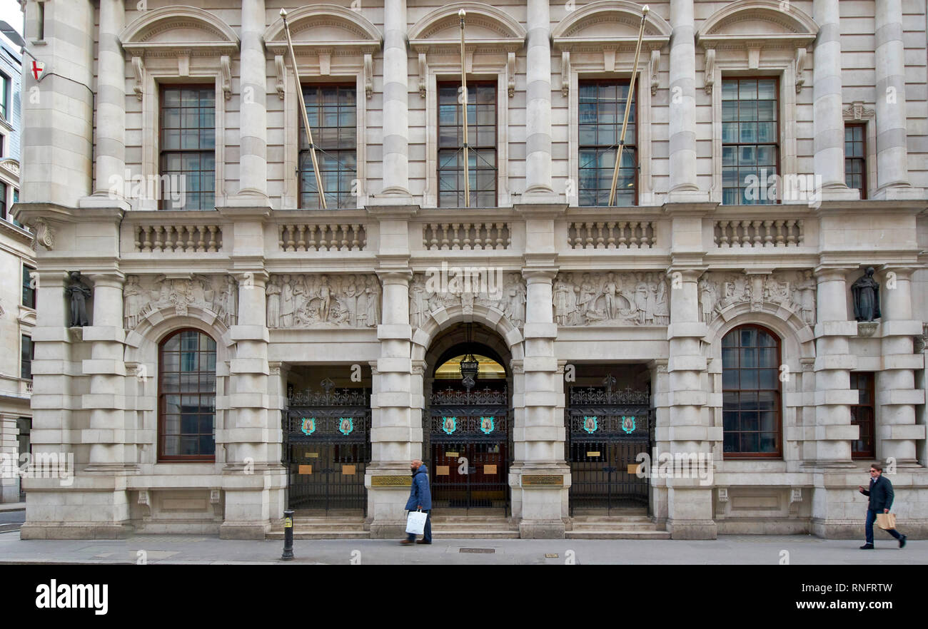 LONDON CITY OF LONDON  LLOYDS REGISTER OF SHIPPING THE OLD BUILDING SITUATED IN FENCHURCH STREET - Stock Image