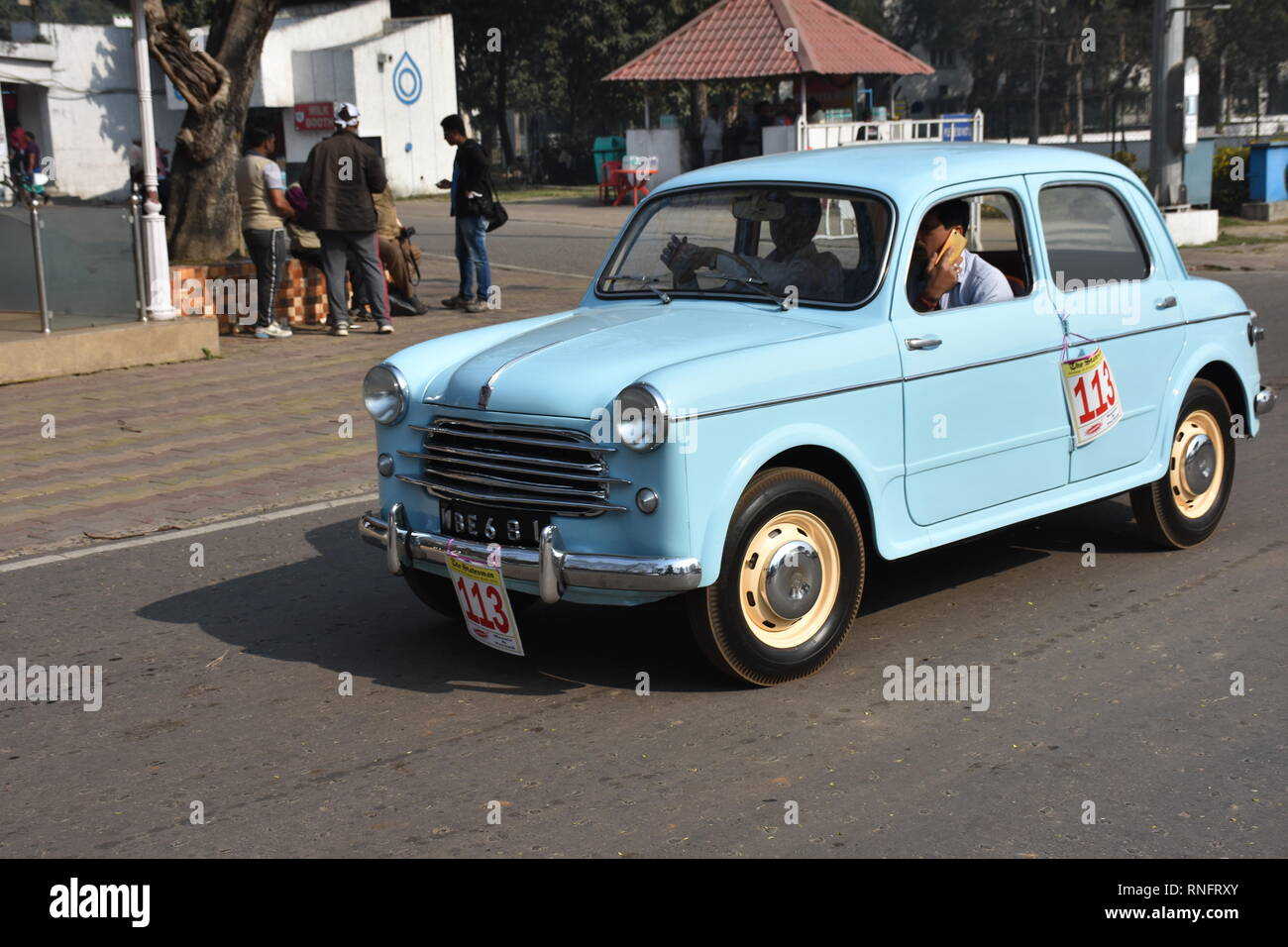 1955 Fiat Millecento Car With 1100 Cc And 4 Cylinder Engine Wbe 681 India Stock Photo Alamy