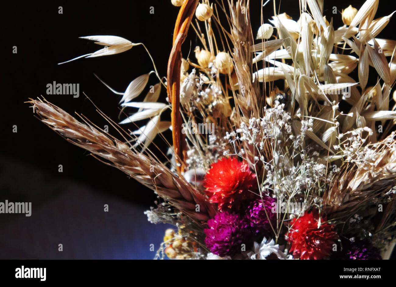 Bouquet Of Dried Flowers Dry Flowers Spring Flower Bouquet Photography Stock Photo Alamy