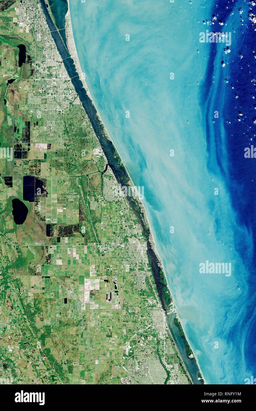 Aerial View Of Barefoot Bay Florida Usa Stock Photo Alamy