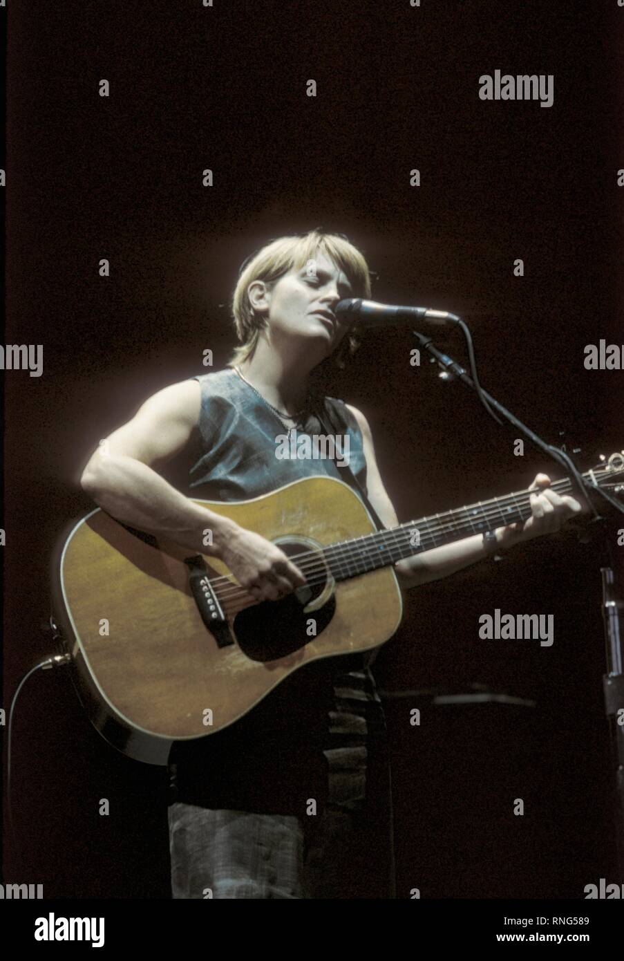 Grammy Award-winning singer, songwriter Shawn Colvin is shown performing 'live' in concert. - Stock Image