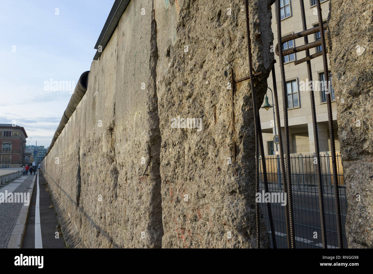 GERMANY, capital city Berlin, the wall the former border between East and West Germany / Die Mauer - Stock Image