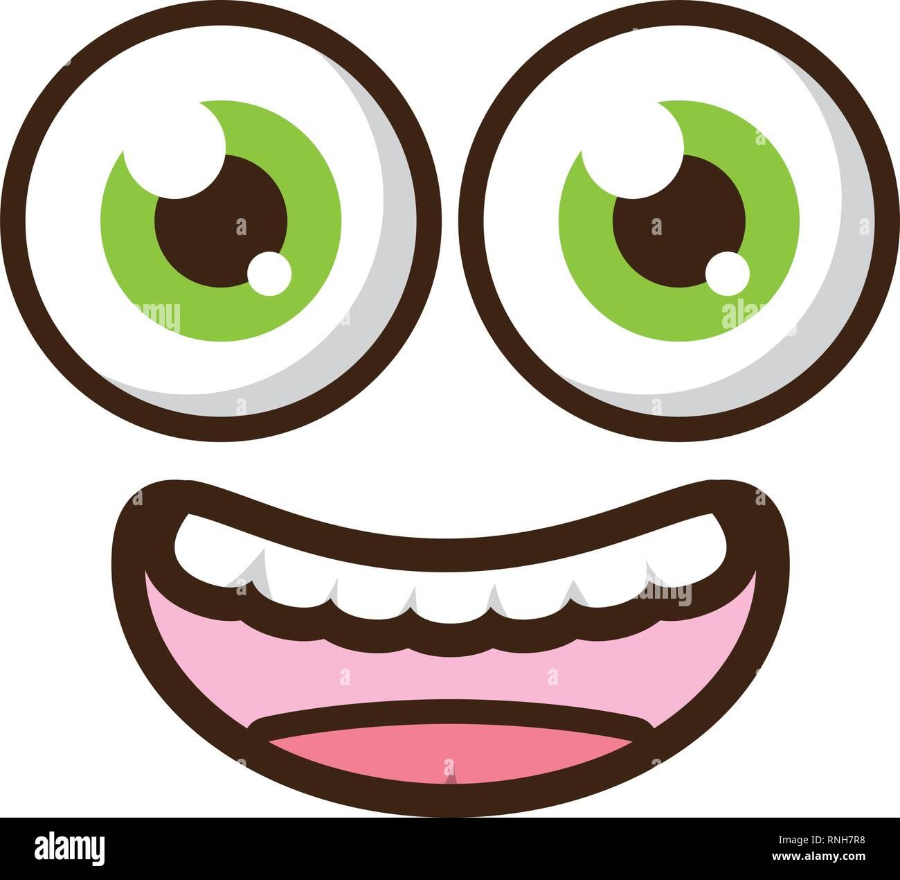 funny face eyes - Stock Vector