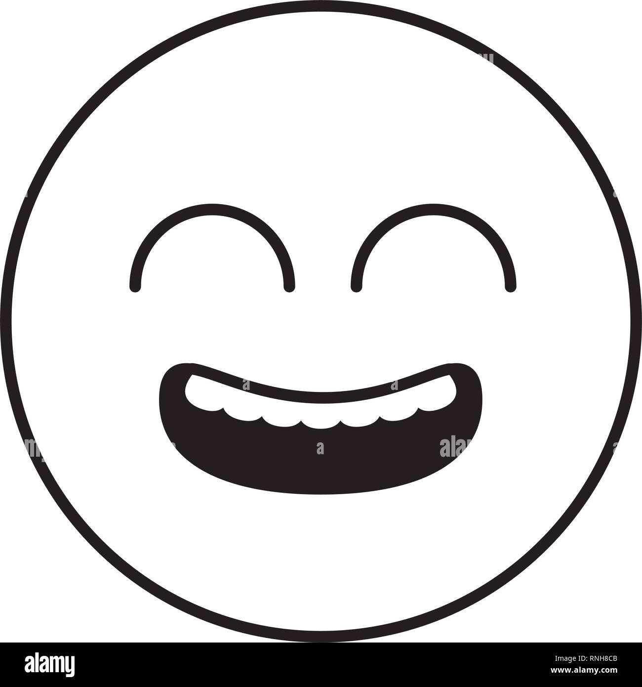 smiley emoji funny - Stock Image
