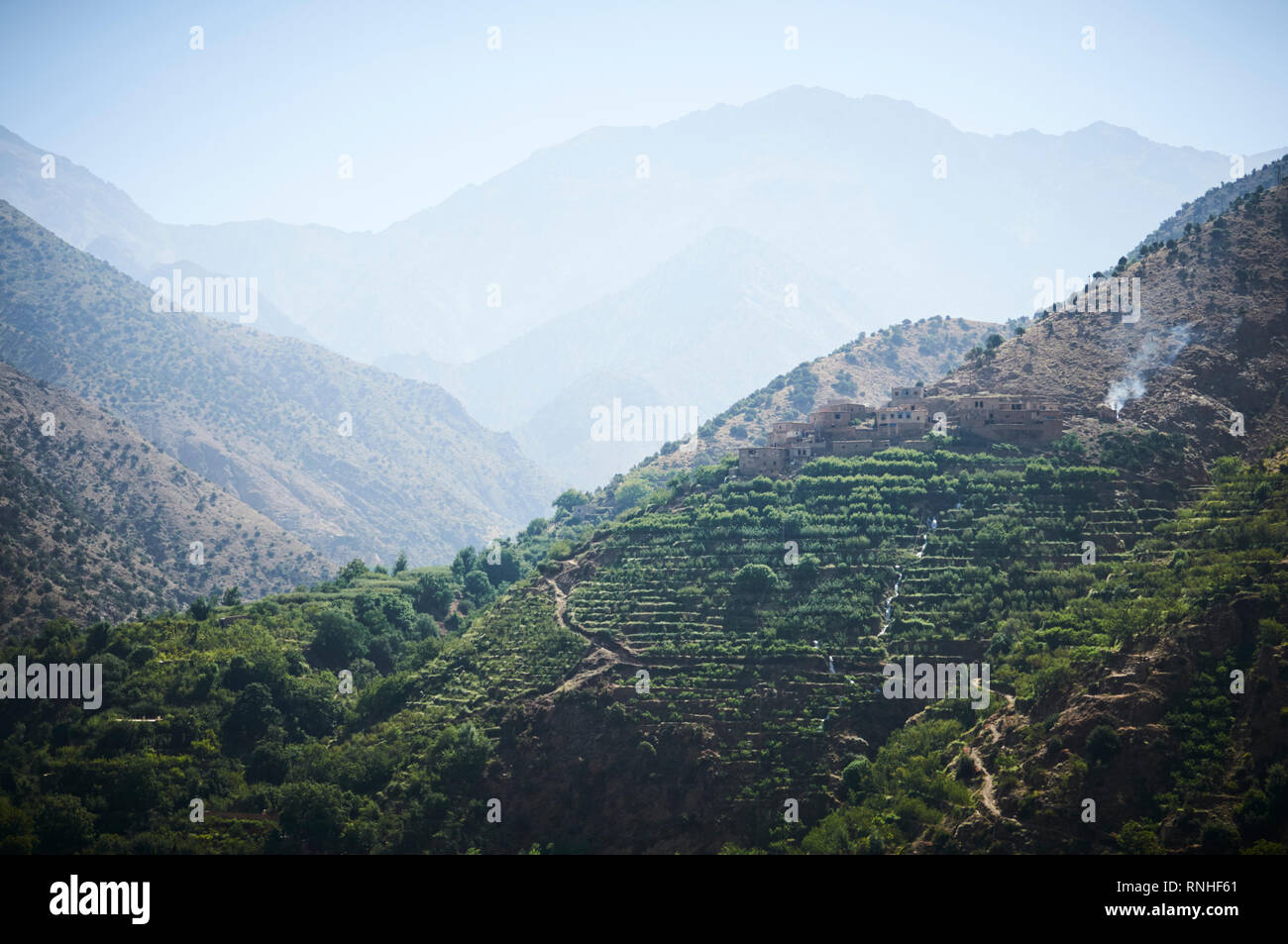 The mountains of Setti Fatma, of the Atlas mountains, Morocco, North Africa. Stock Photo