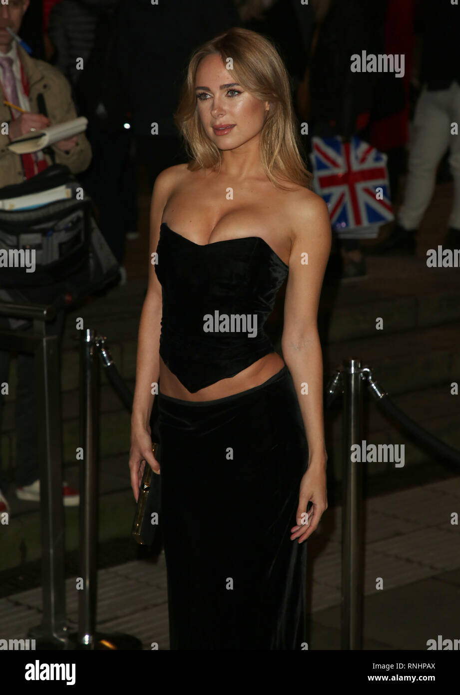 Kimberley Garner attends the Fabulous Fund Fair as part of London Fashion Week event. - Stock Image