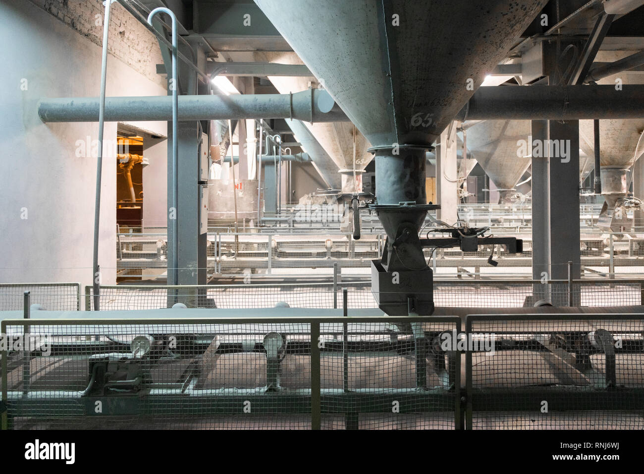 cement plant inside view Stock Photo
