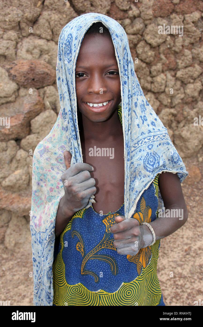 Smiling Ghana Girl - Stock Image