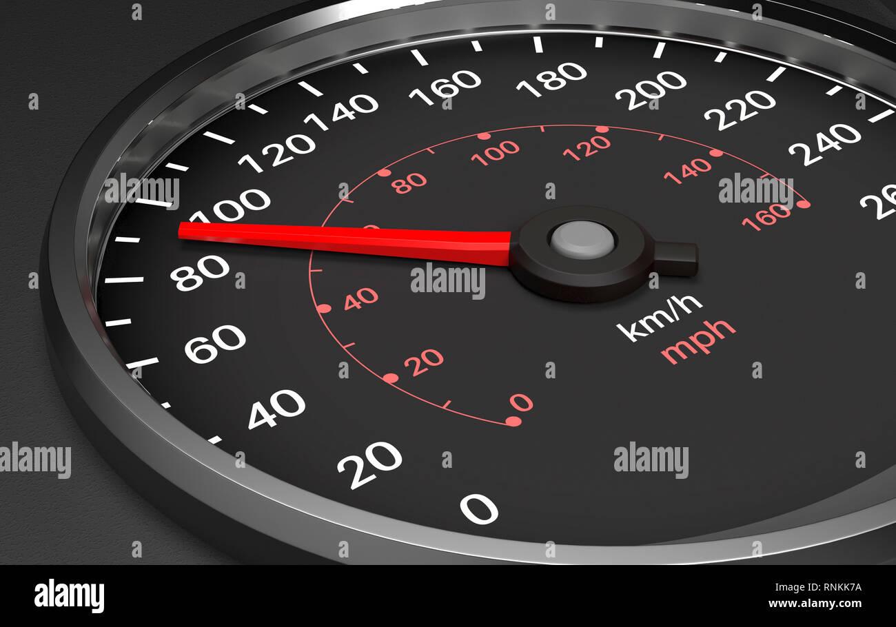 Speedometer. 3d render illustration Stock Photo