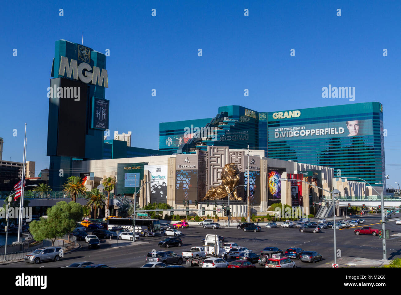 The MGM Grand Hotel, Las Vegas on The Strip in Las Vegas, Nevada, United States. - Stock Image