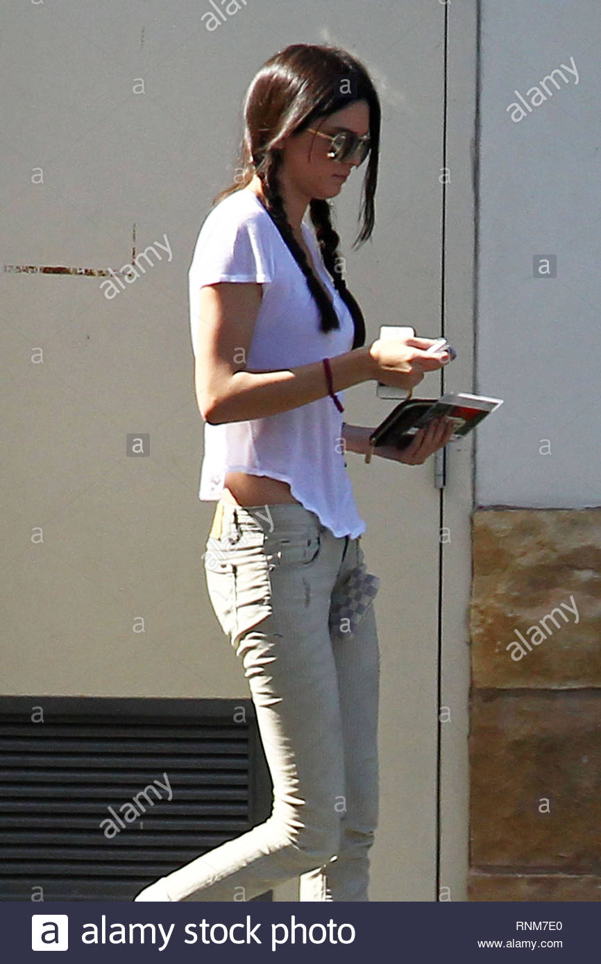 9ef454f236ad2 *EXCLUSIVE* Malibu, CA - Pig tail cutie Kendall Jenner makes a stop in  Malibu for a car wash looking thin and cute. The teen model was sporting pig  tails ...