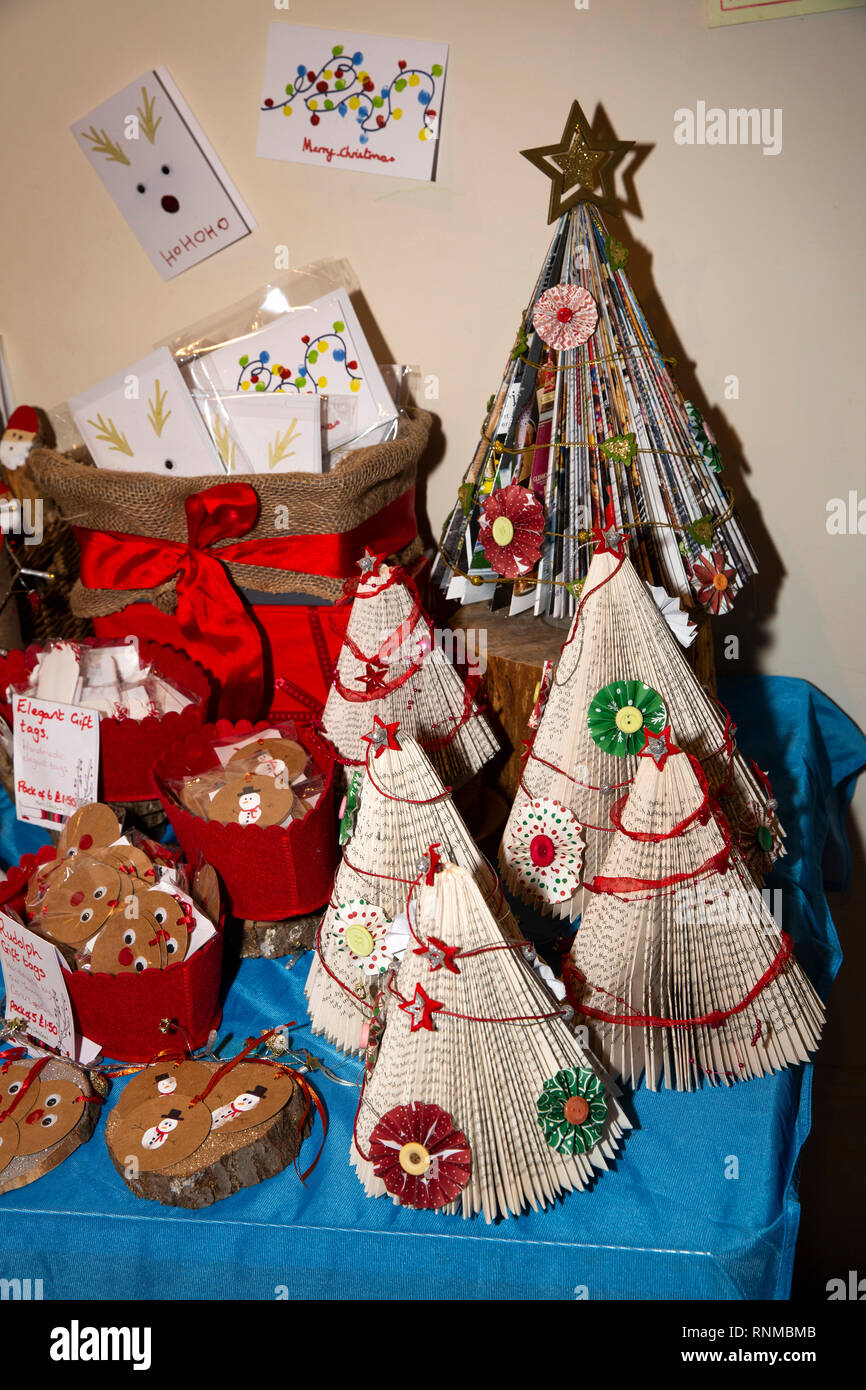 Uk England Lancashire Ramsbottom Market Place Civic Hall Christmas Craft Fair Carer S Link Handmade Gifts Stall Stock Photo Alamy
