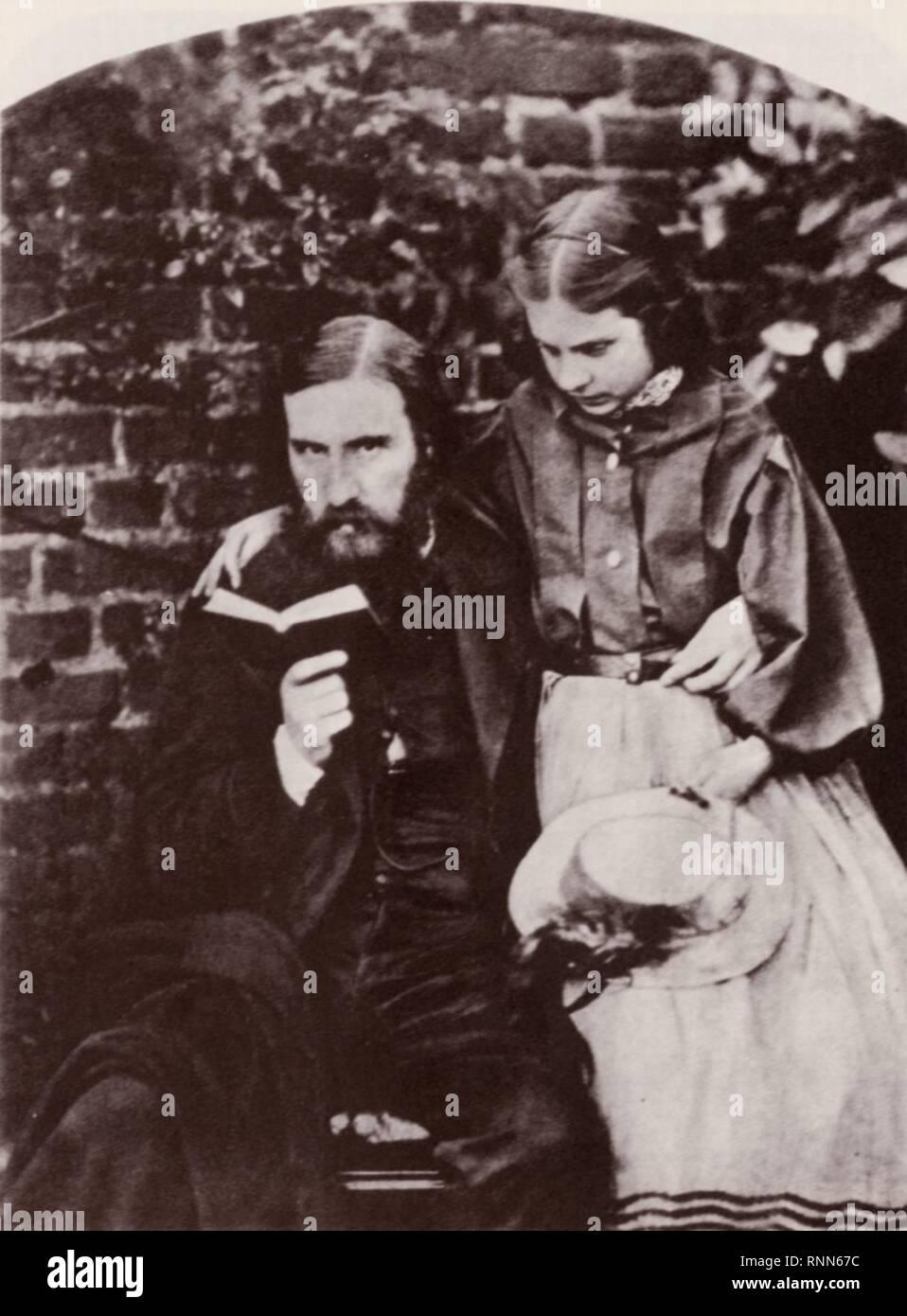 Carrol, Lewis - George MacDonald, Romanautor und Dichter, mit seiner ältesten Tochter, Lily - Stock Image