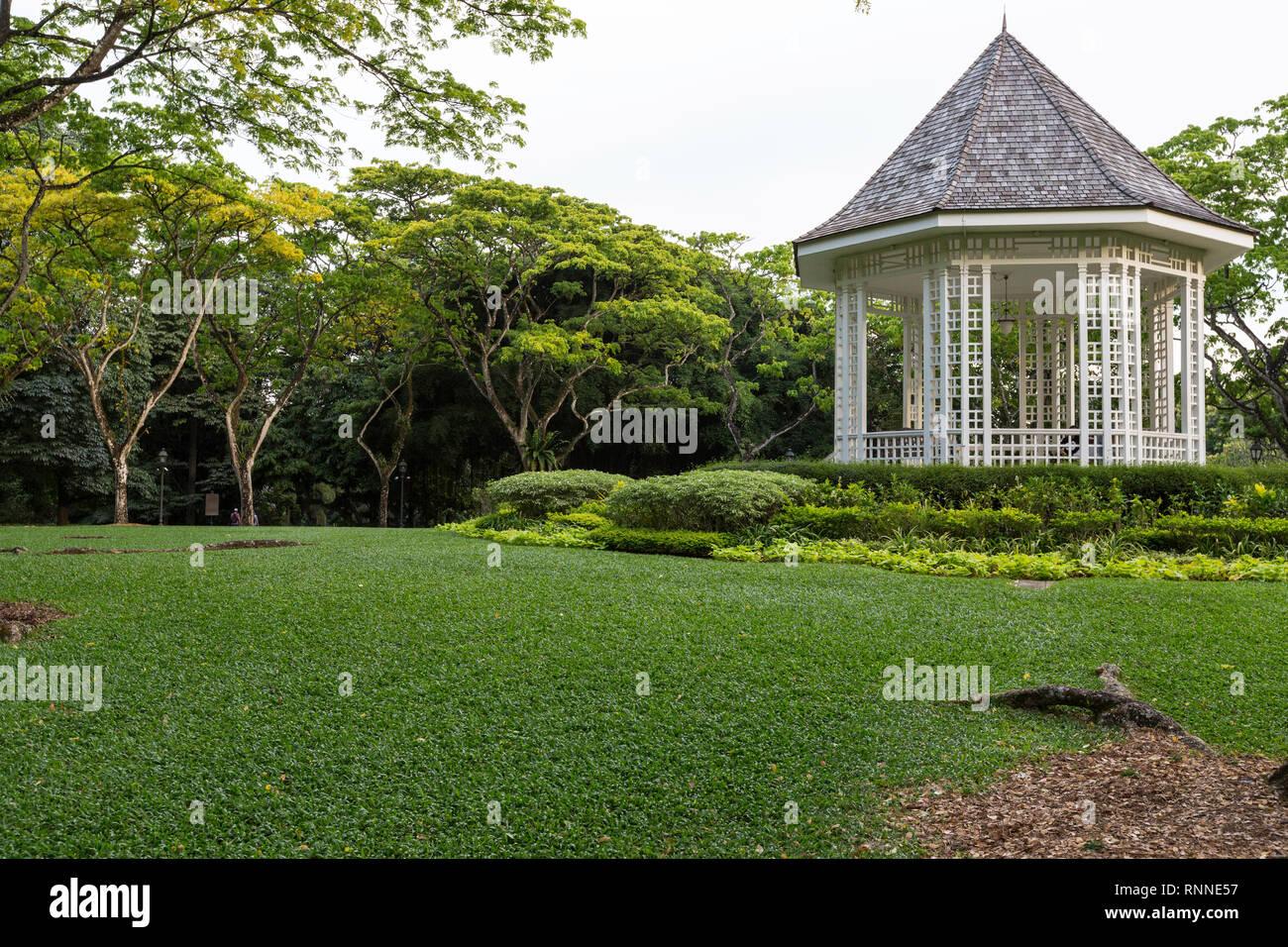 Singapore Botanic Garden Bandstand. - Stock Image