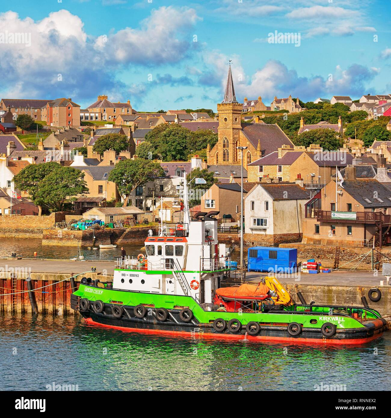 Port of Stromness, Mainland, Orkney Islands, Scotland, Great Britain Stock Photo