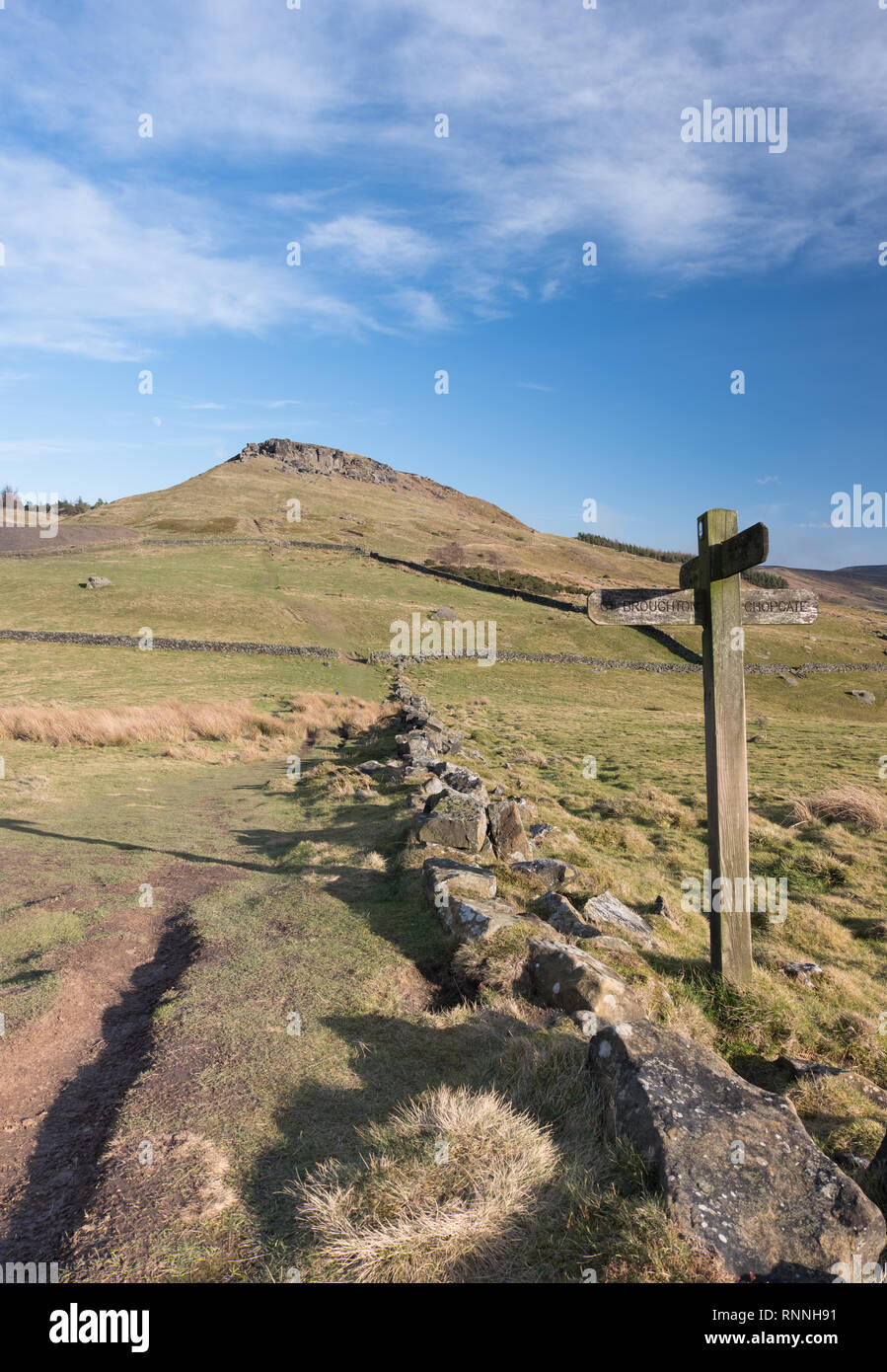 Wainstones and Hasty Bank from Garfit Gap on the Cleveland Way in the North York Moors - Stock Image