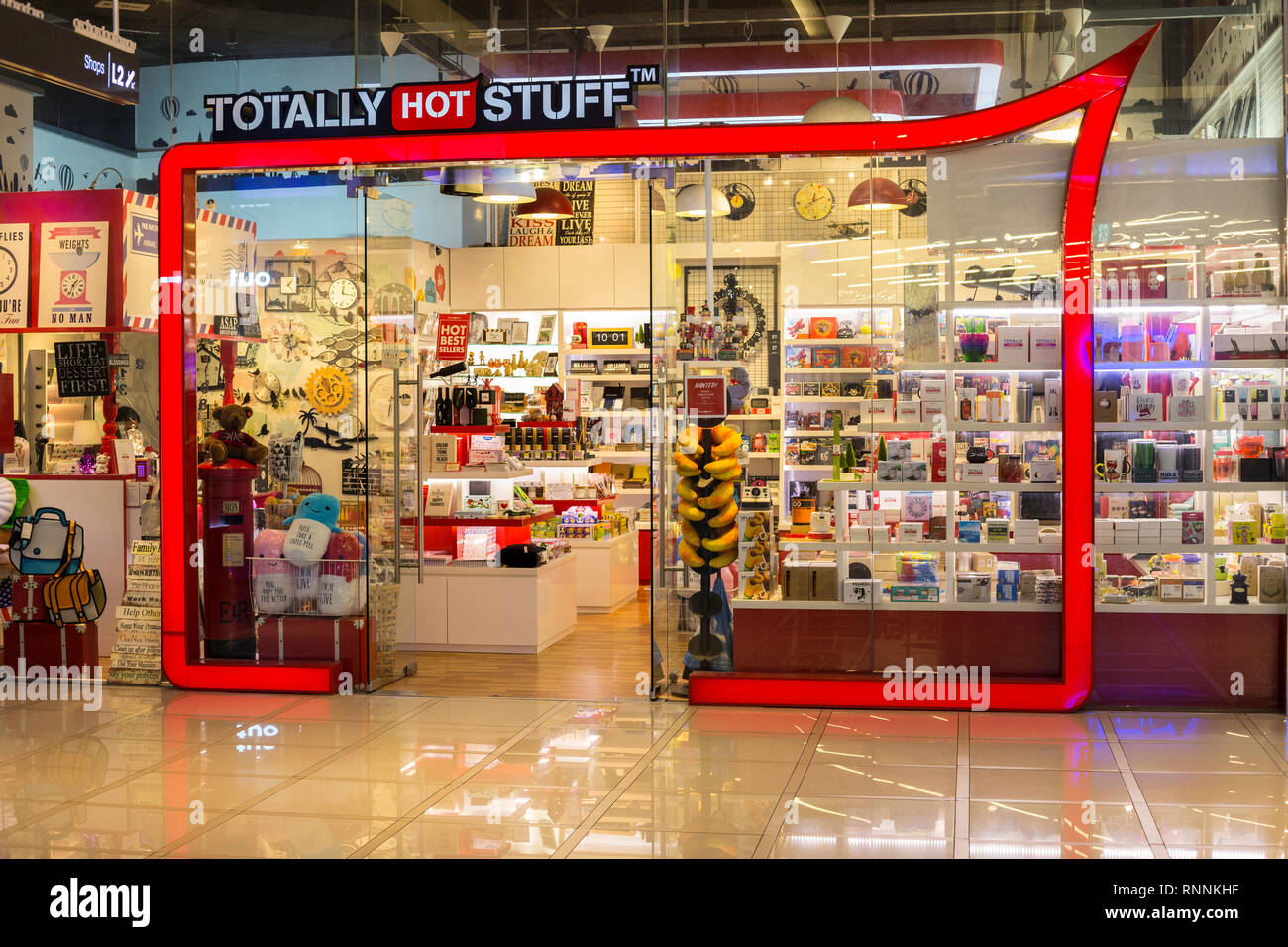 Singapore. Gadgets and Sundry Items Store in Orchard Gateway Mall, Orchard Road. - Stock Image
