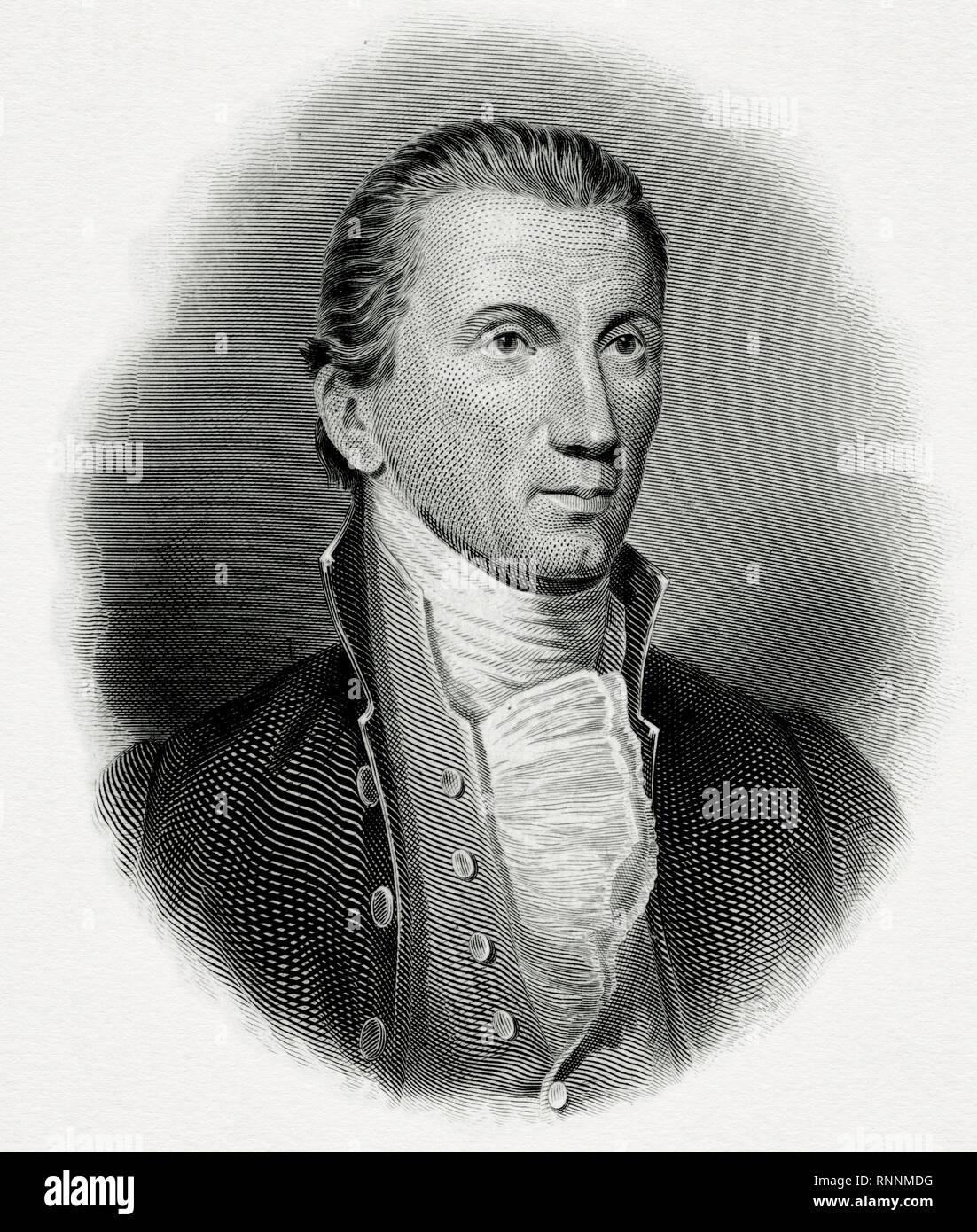Portrait of President James Monroe, circa 1819 - Stock Image