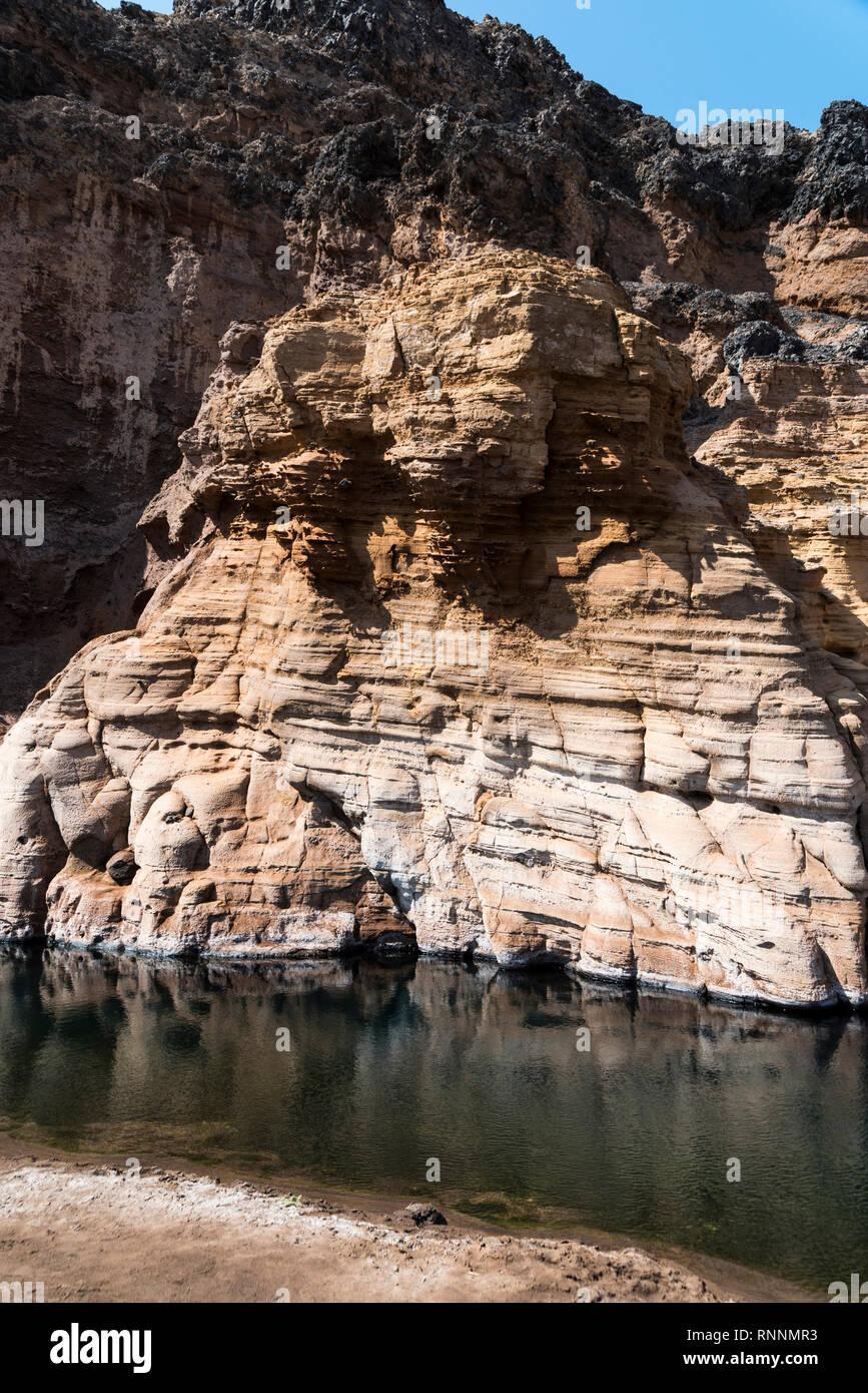 Lac Assal (Salt Lake), Djibouti, East Africa - Stock Image