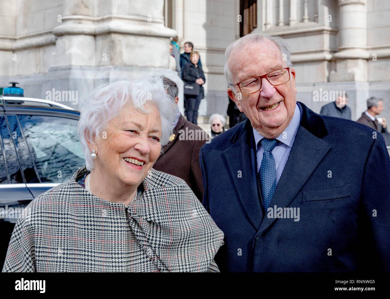 Brussels, Belgium  19th Feb, 2019  King Albert II and Queen