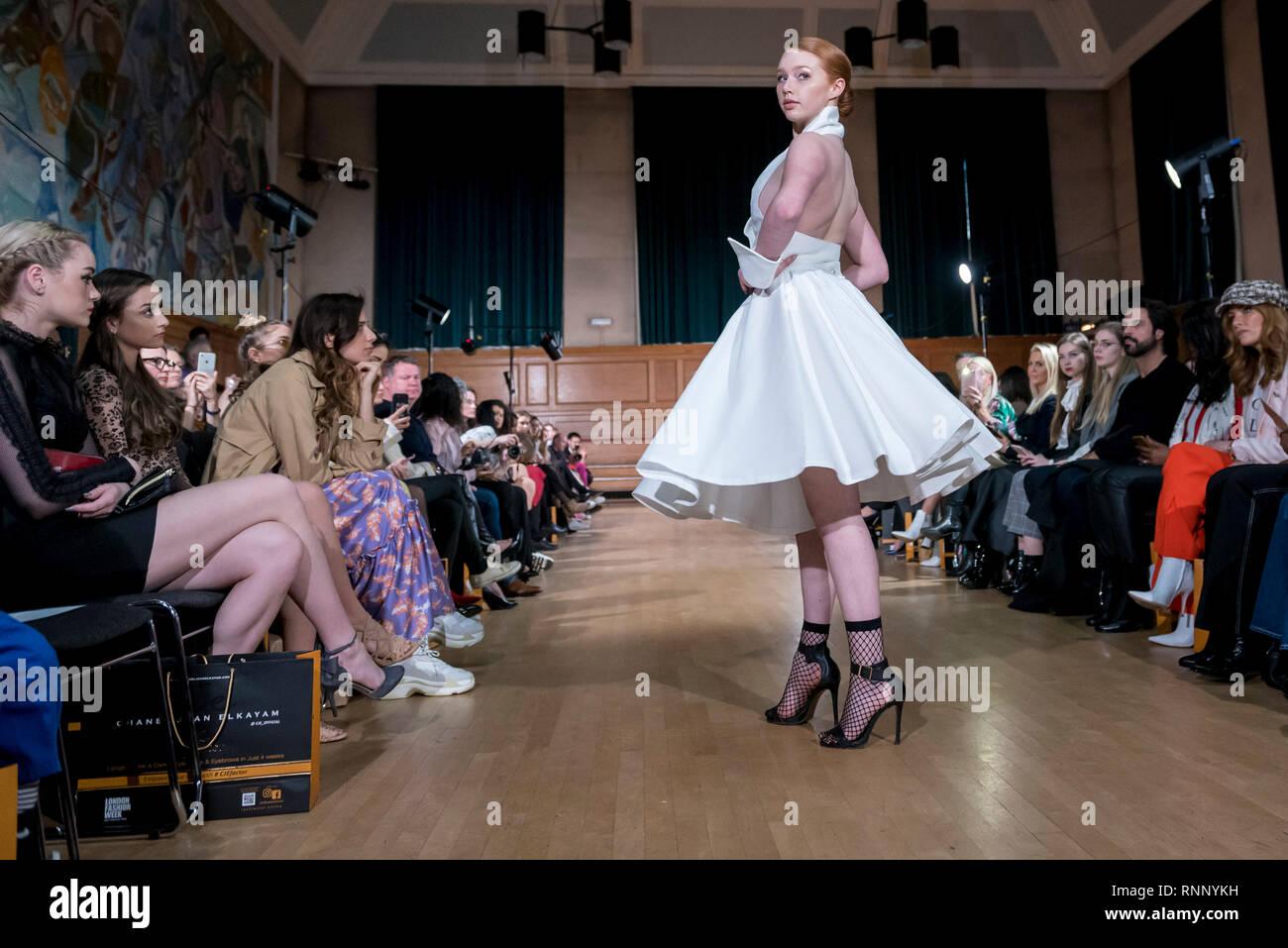London Uk 19 February 2019 A Model Wears A Look By Chanel Joan Elkayam At Her