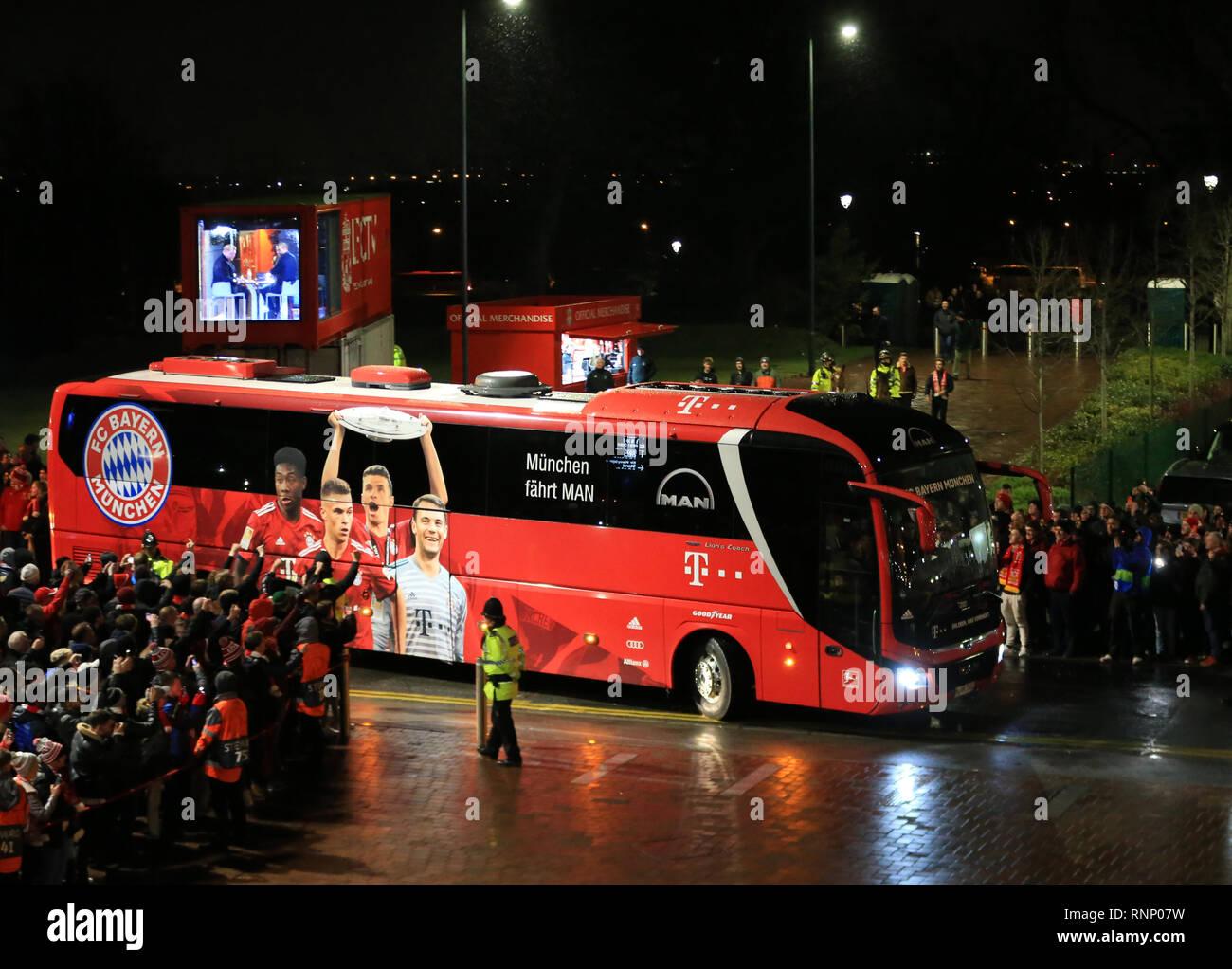 Anfield, Liverpool, UK  19th Feb, 2019  UEFA Champions