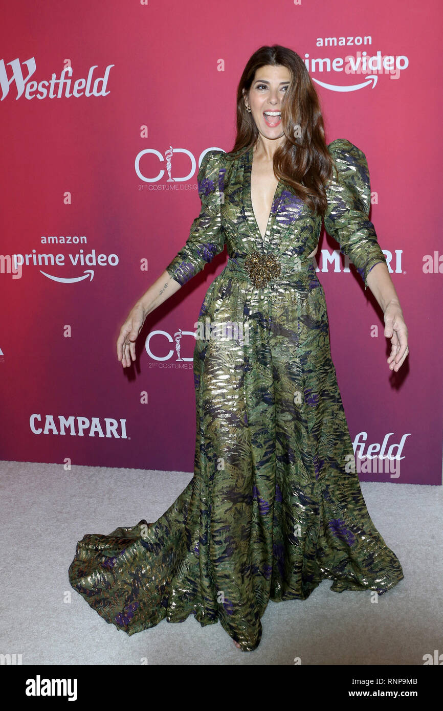 February 19, 2019 - Beverly Hills, CA, USA - LOS ANGELES - FEB 19:  Marisa Tomei at the 2019 Costume Designers Guild Awards at the Beverly Hilton Hotel on February 19, 2019 in Beverly Hills, CA (Credit Image: © Kay Blake/ZUMA Wire) - Stock Image
