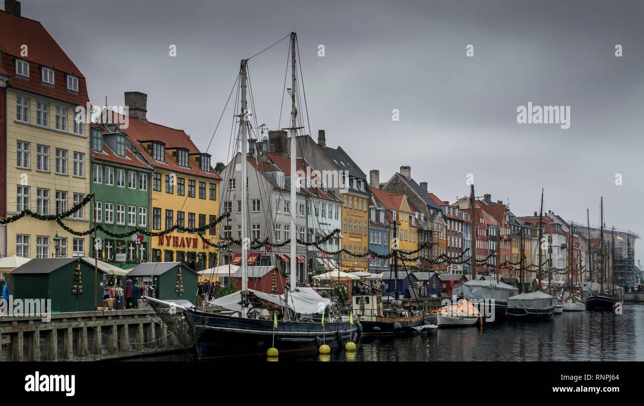 Nyhavn, Copenhagen - Stock Image