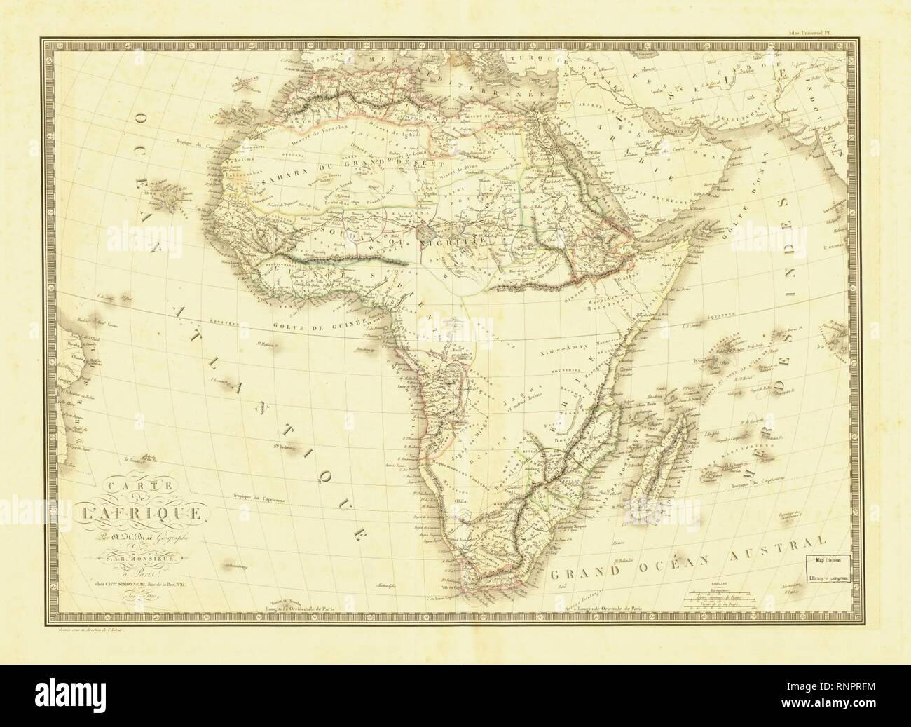 Carte de l'Afrique - Stock Image