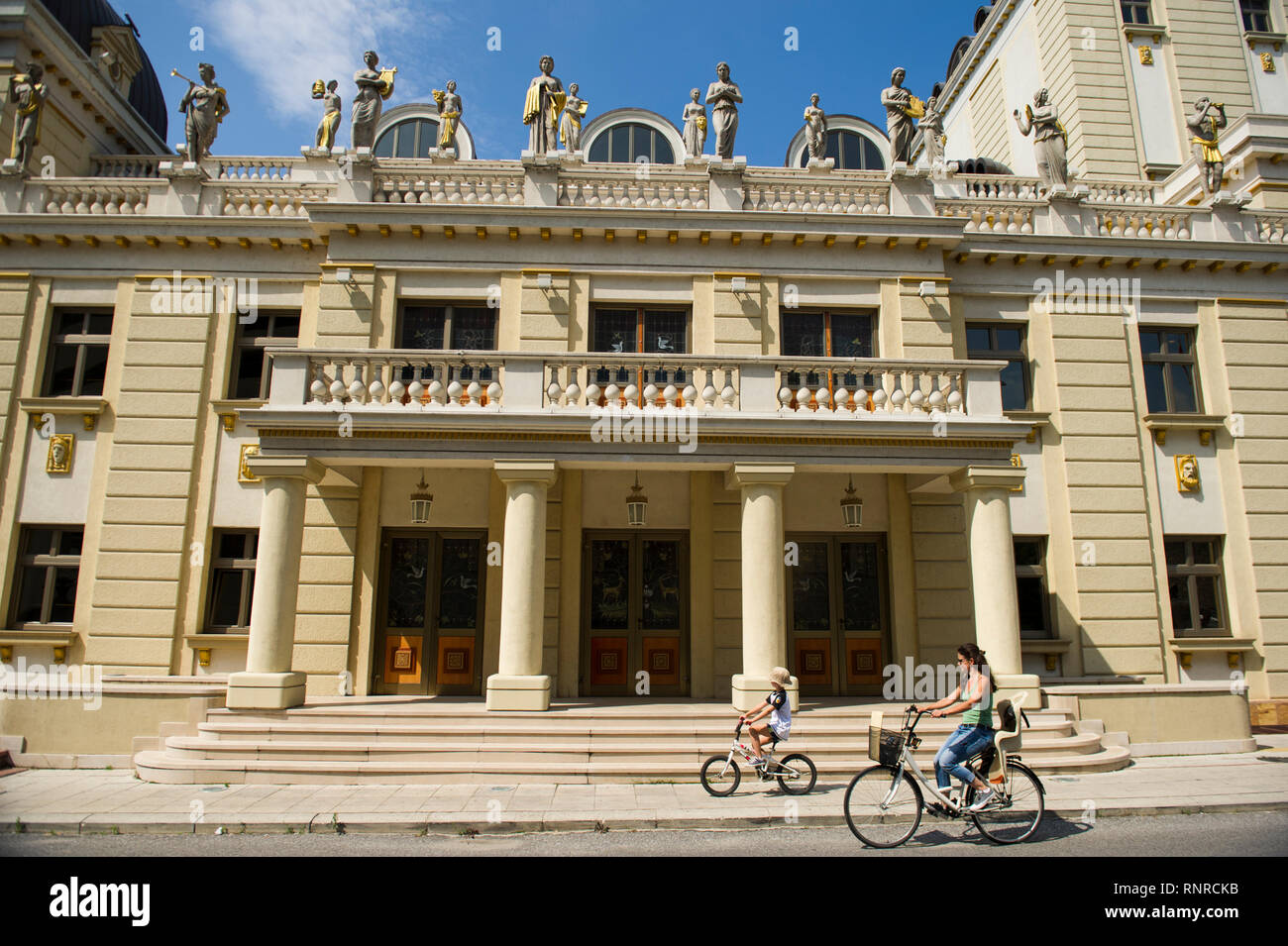 Macedonian National Theatre, Skopje, Macedonia - Stock Image