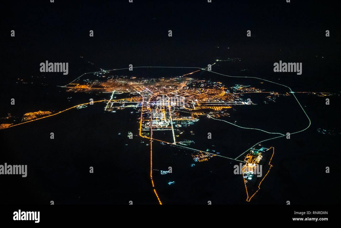 Aerial view of Astana, Kazakhstan Stock Photo