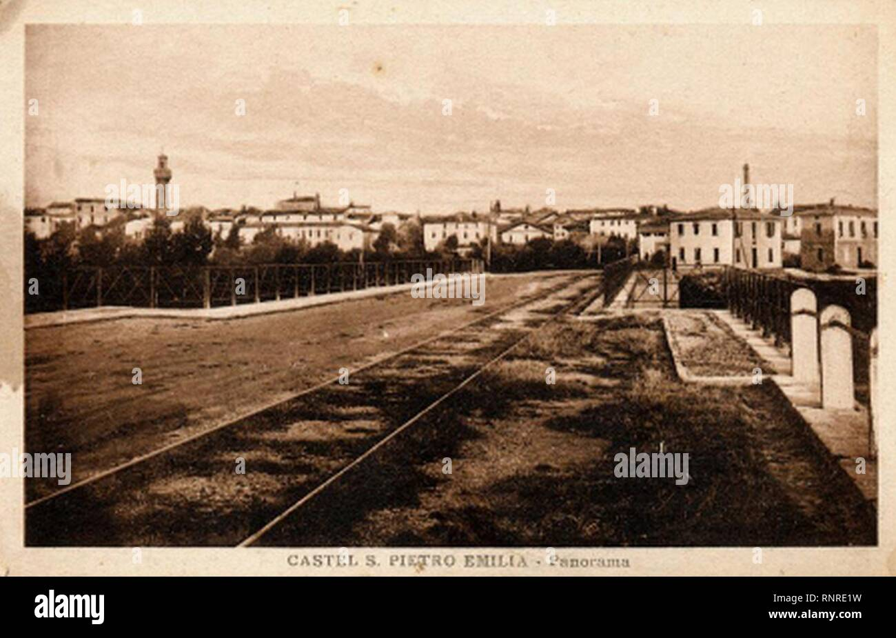 Castel San Pietro Terme ponte sul torrente Sillaro. Stock Photo