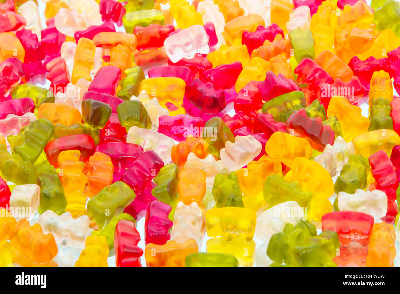 colorful gummy bears for background. Stock Photo